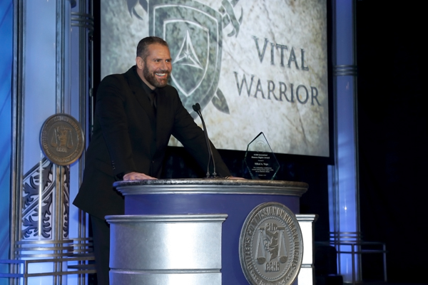 CCHR Human Rights Award Winner, Mikal Vega, Retired Chief Petty Officer, Navy SEAL
